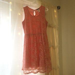 Soft Coral Lace Dress